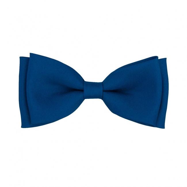 Královsky modrý dětský motýlek matný