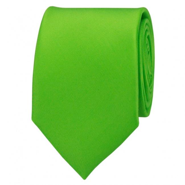 Jasně zelená pánská kravata lesklá