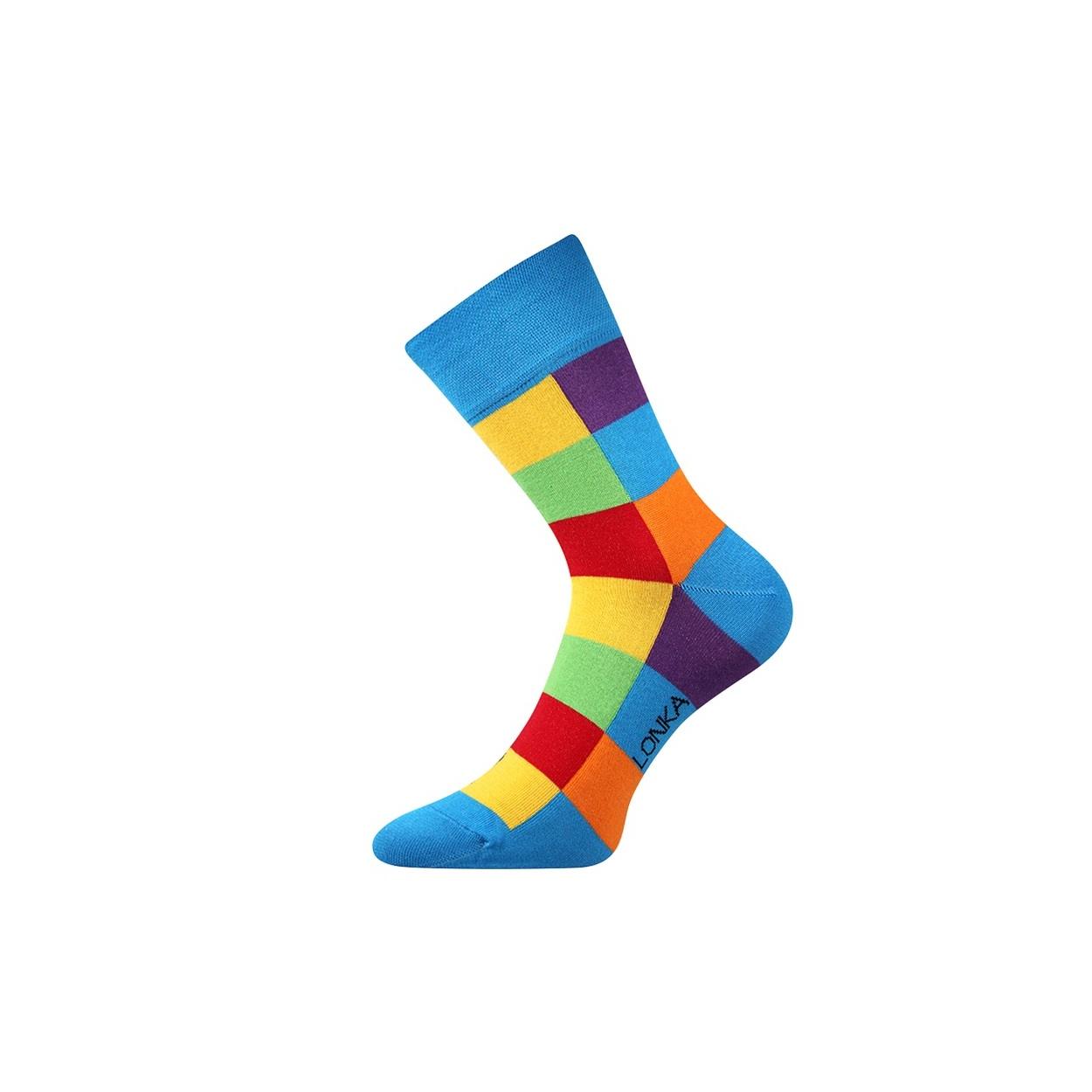 Modré pánské ponožky s kostkami Decube