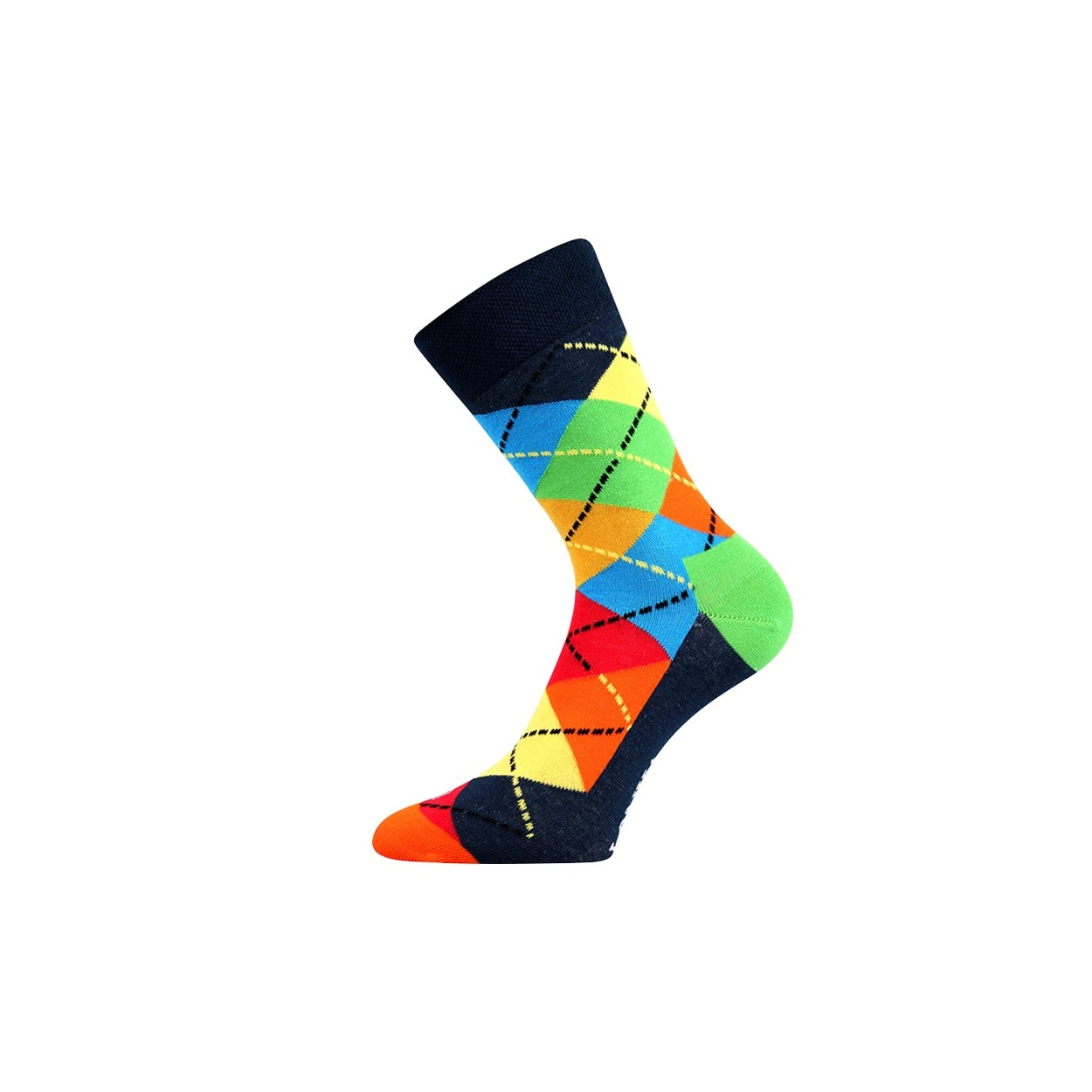 Modré pánské ponožky s kostkami WOODOO