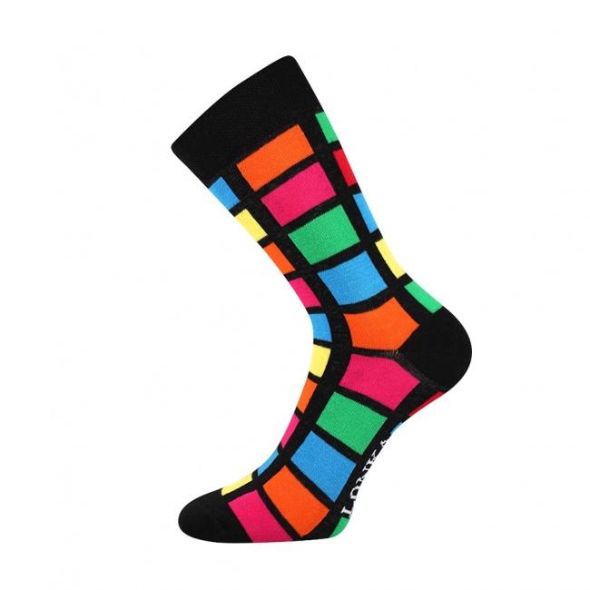 Barevné pánské ponožky s obdelníky WOODOO