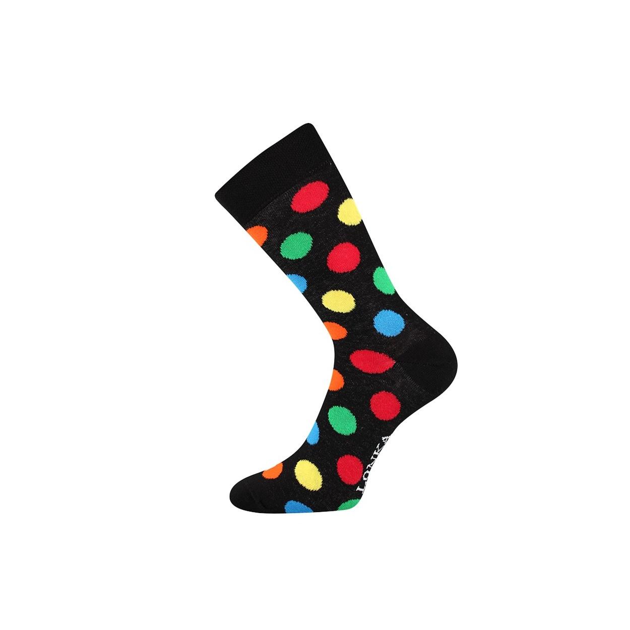 Černé pánské ponožky s puntíky WOODOO