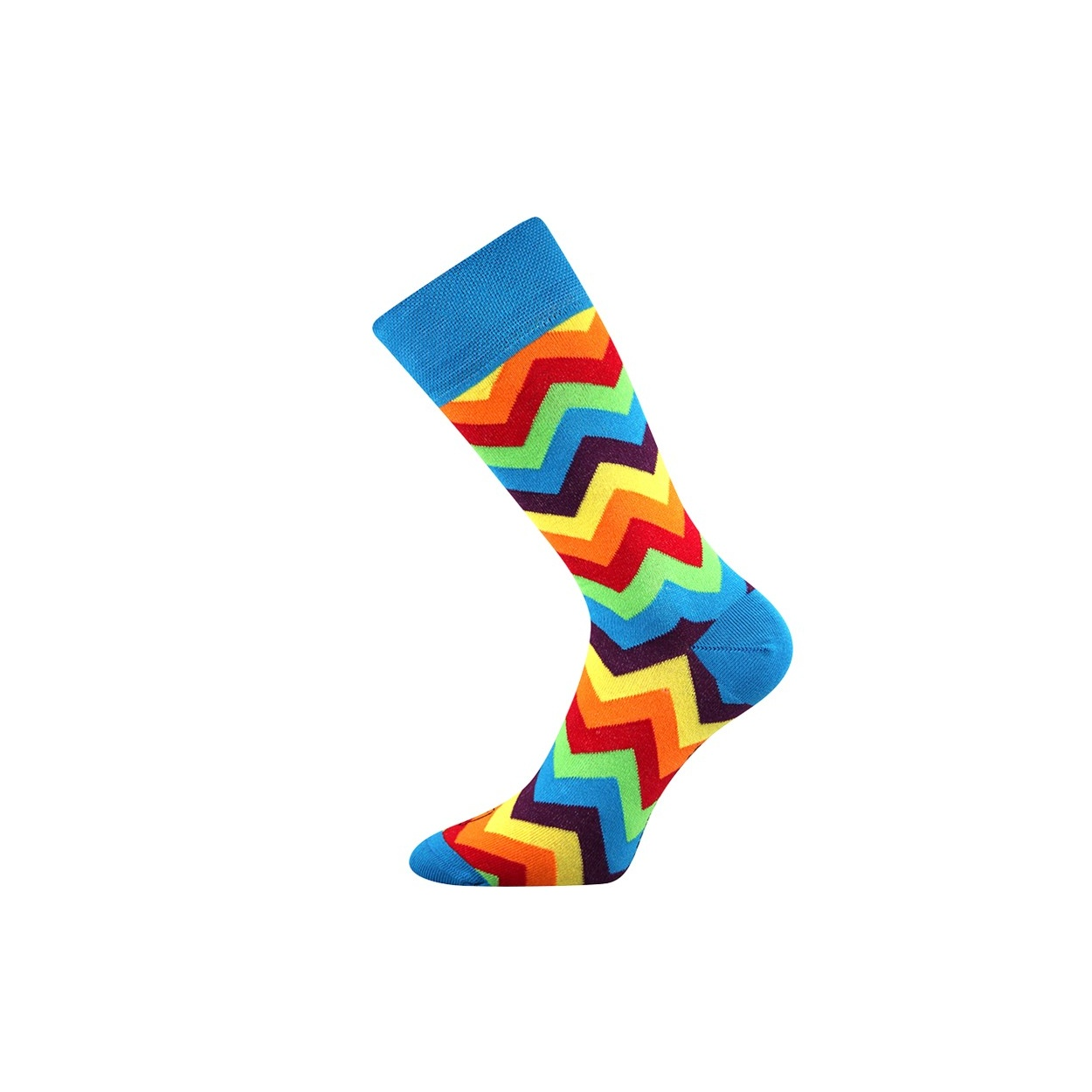 Modré pánské ponožky s klikaticemi WATT