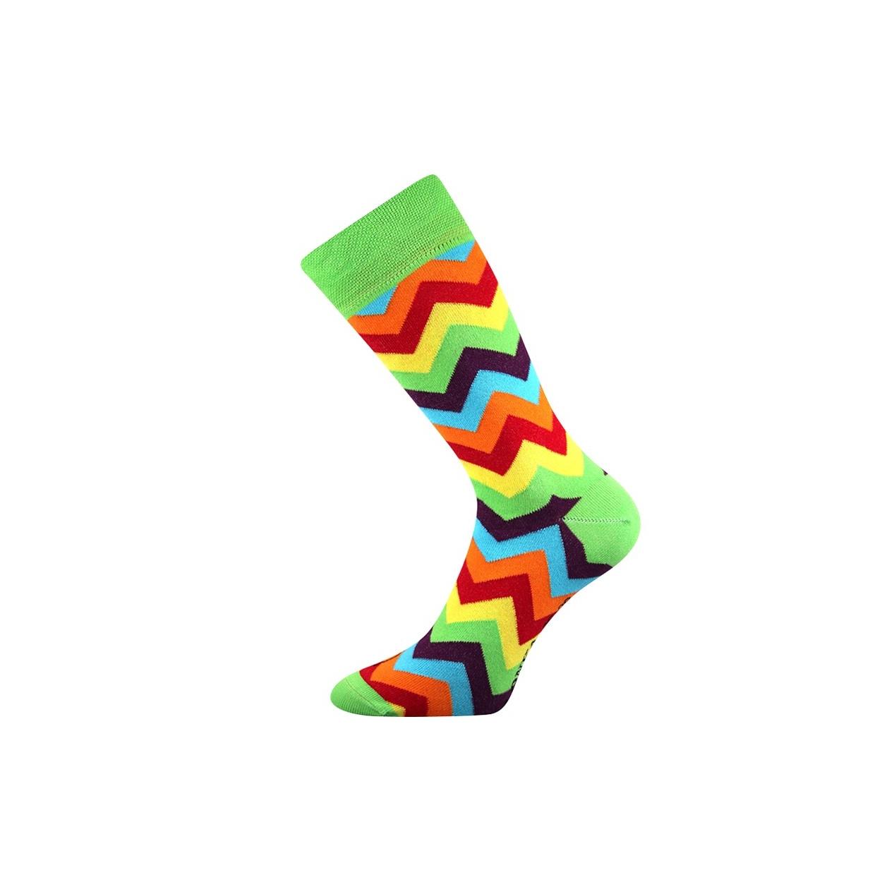 Zelené pánské ponožky s klikaticemi WATT