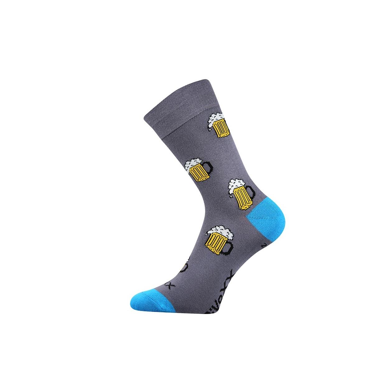 Tmavě šedé pánské ponožky PIVO