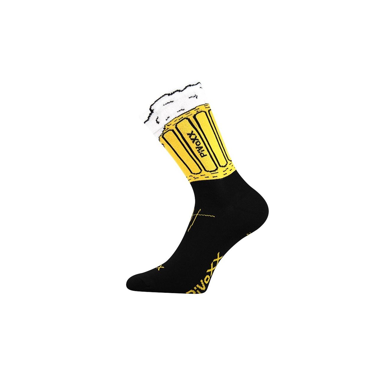 Černé pánské ponožky PIVO
