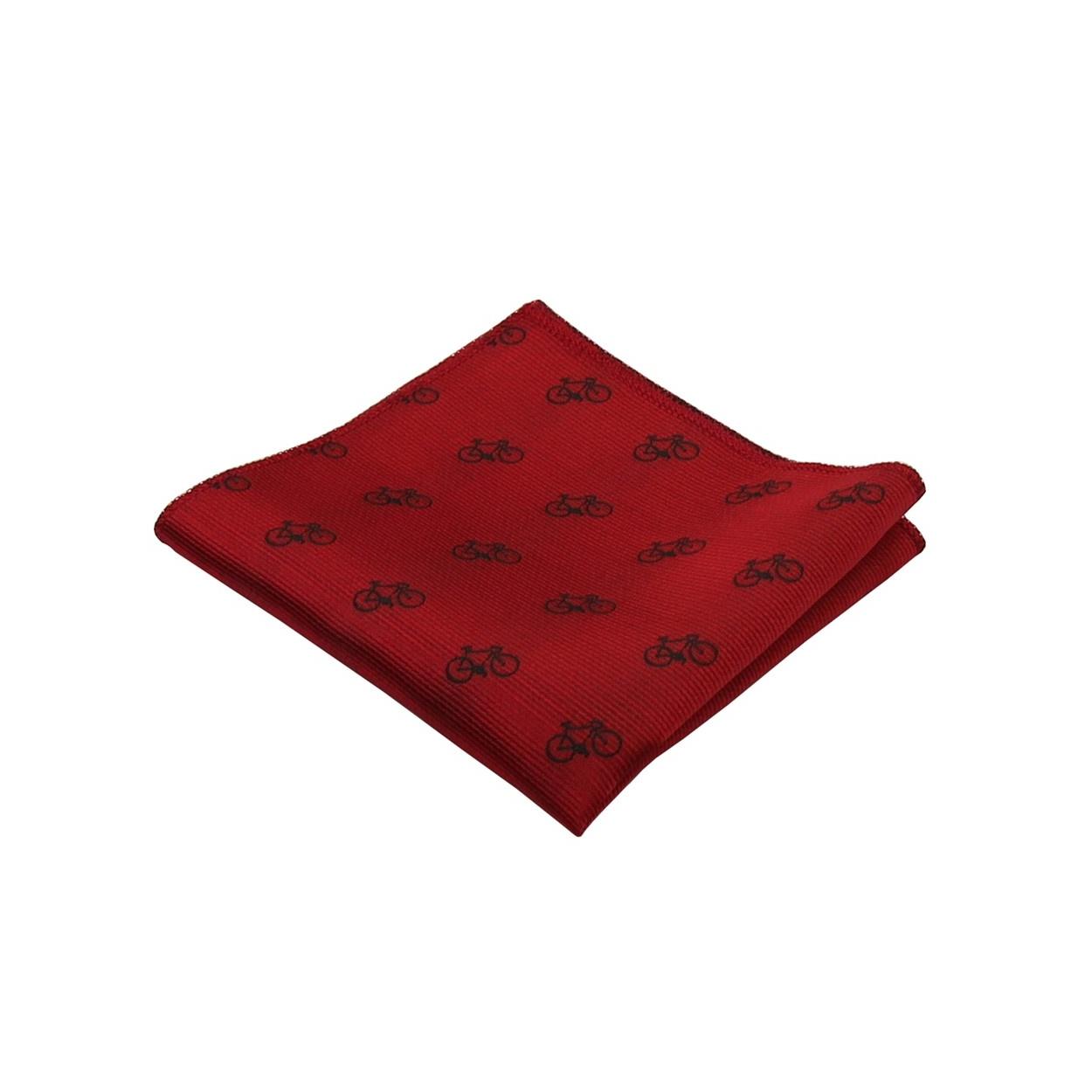 Vínově červený pánský kapesníček do saka KOLO
