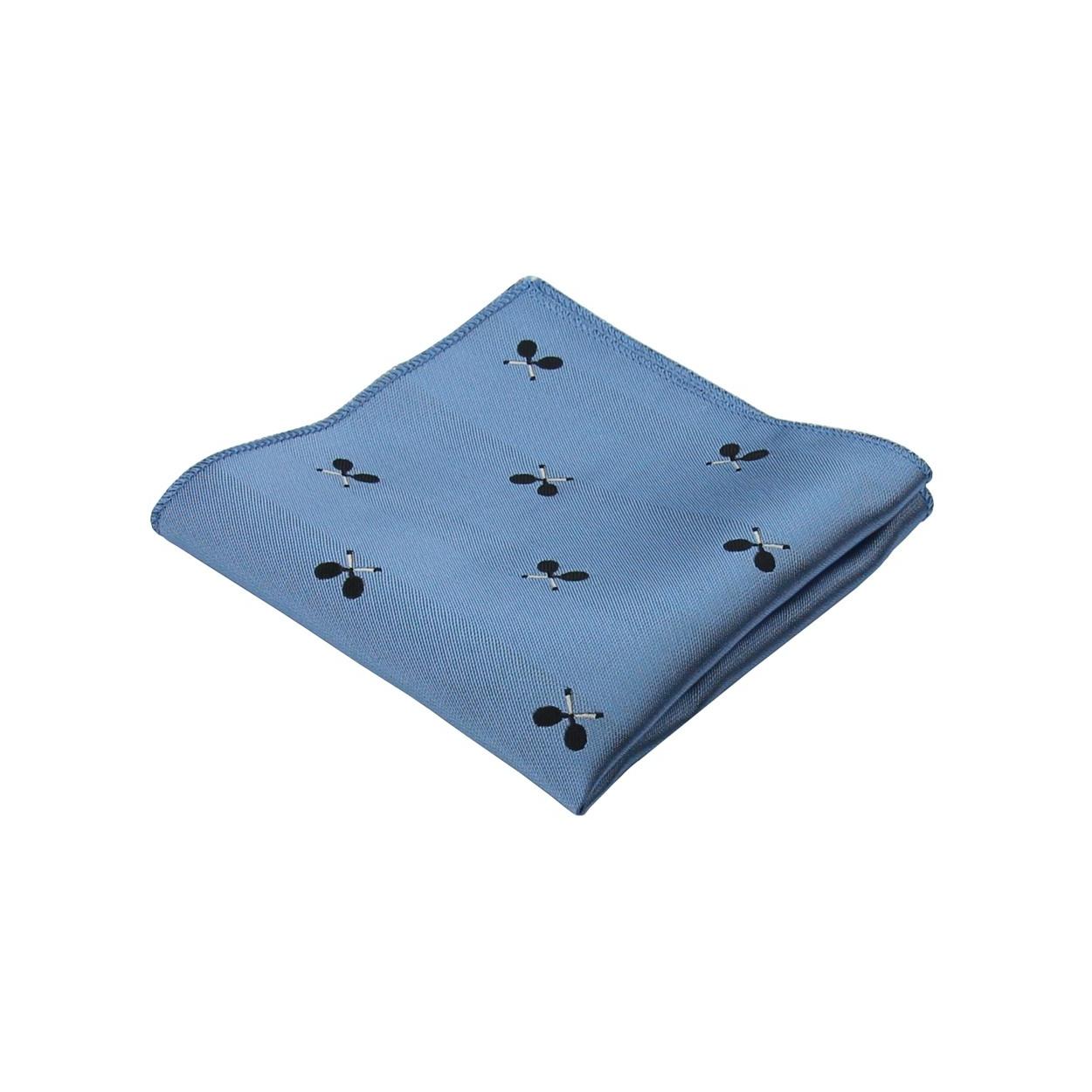 Světle modrý pánský kapesníček do saka TENIS