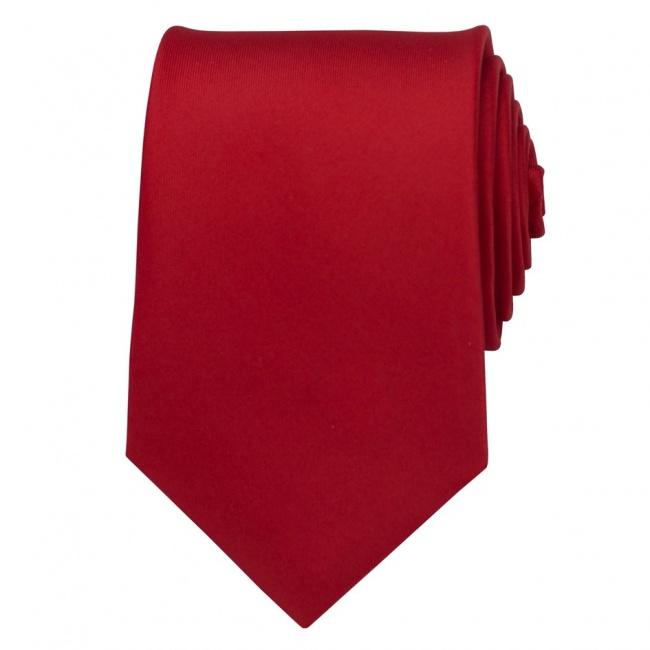 Červená pánská kravata matná
