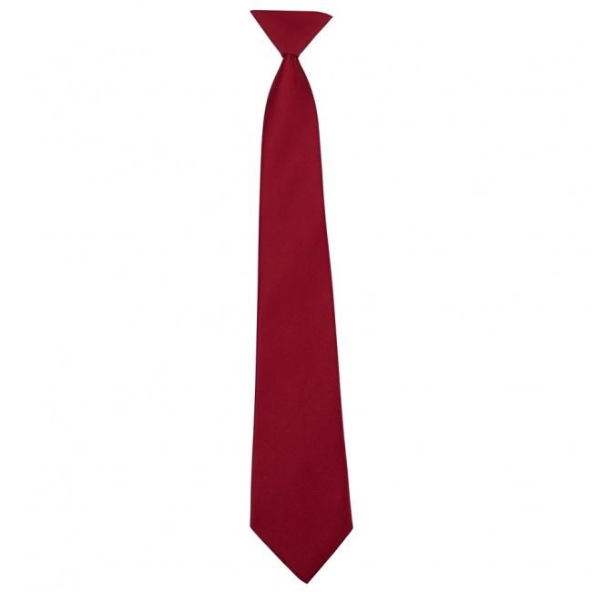 Červená dětská kravata jednobarevná matná