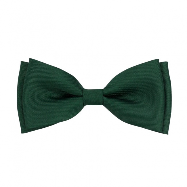 Smaragdově zelený dětský motýlek matný
