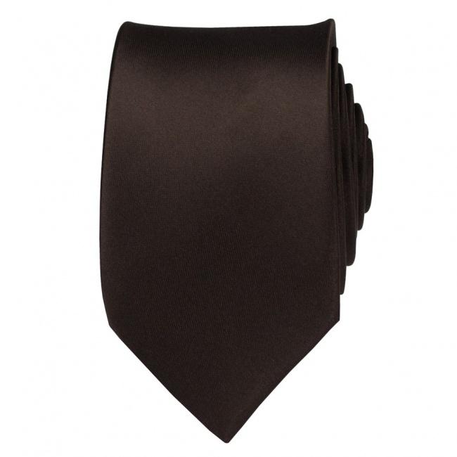 Tmavě hnědá pánská kravata