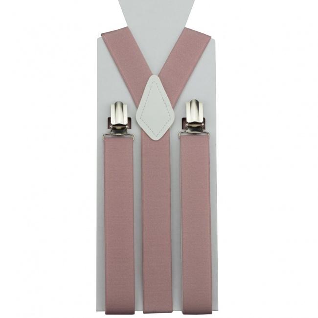 Starorůžové pánské šle - kšandy jednobarevné