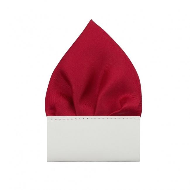 Červený pánský kapesníček do saka matný