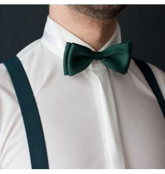 Smaragdový pánský set Šle a Motýlek matný model