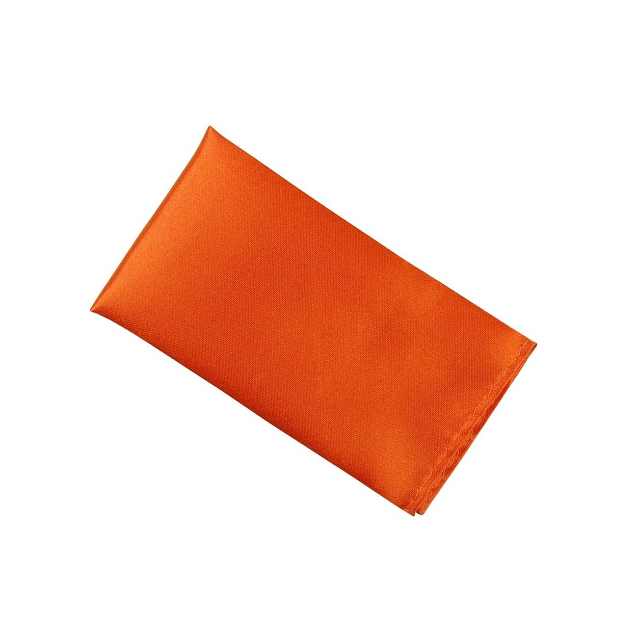 Oranžový pánský kapesníček do saka lesklý
