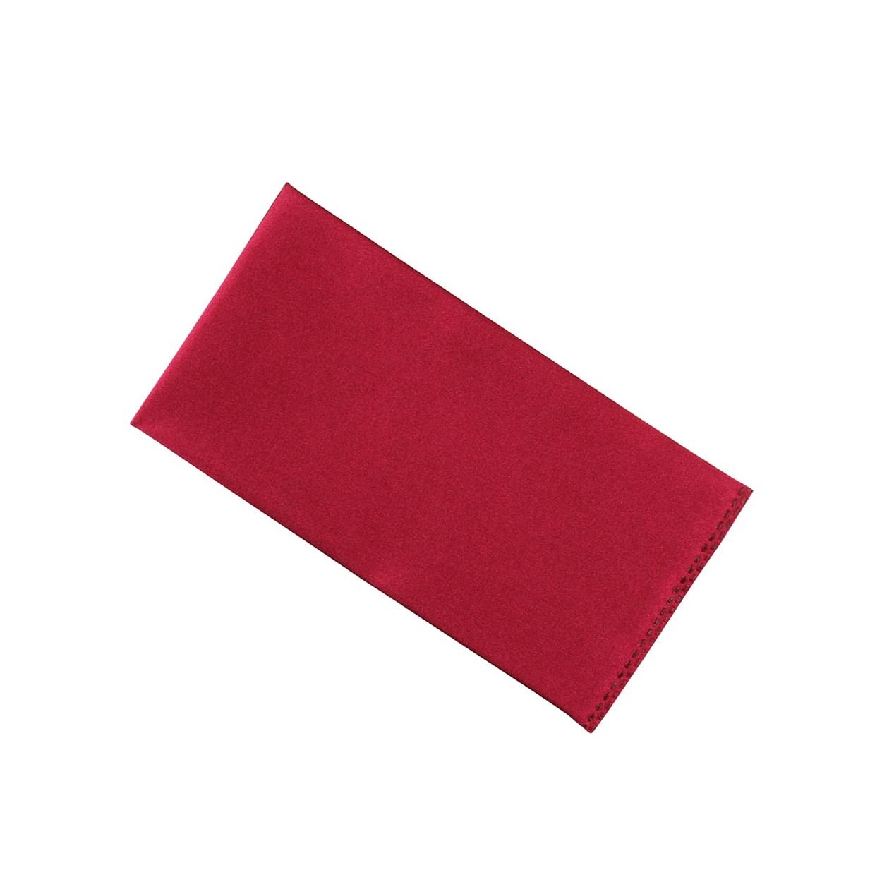 Vínově červený kapesníček do saka lesklý