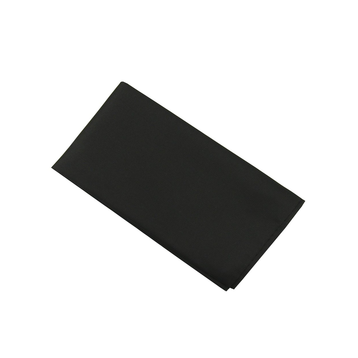 Černý pánský kapesníček do saka matný