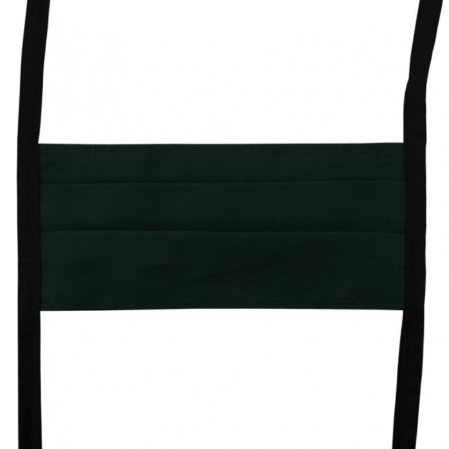 Smaragdově zelená textilní rouška