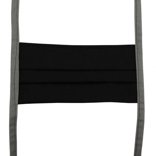 Černá textilní rouška