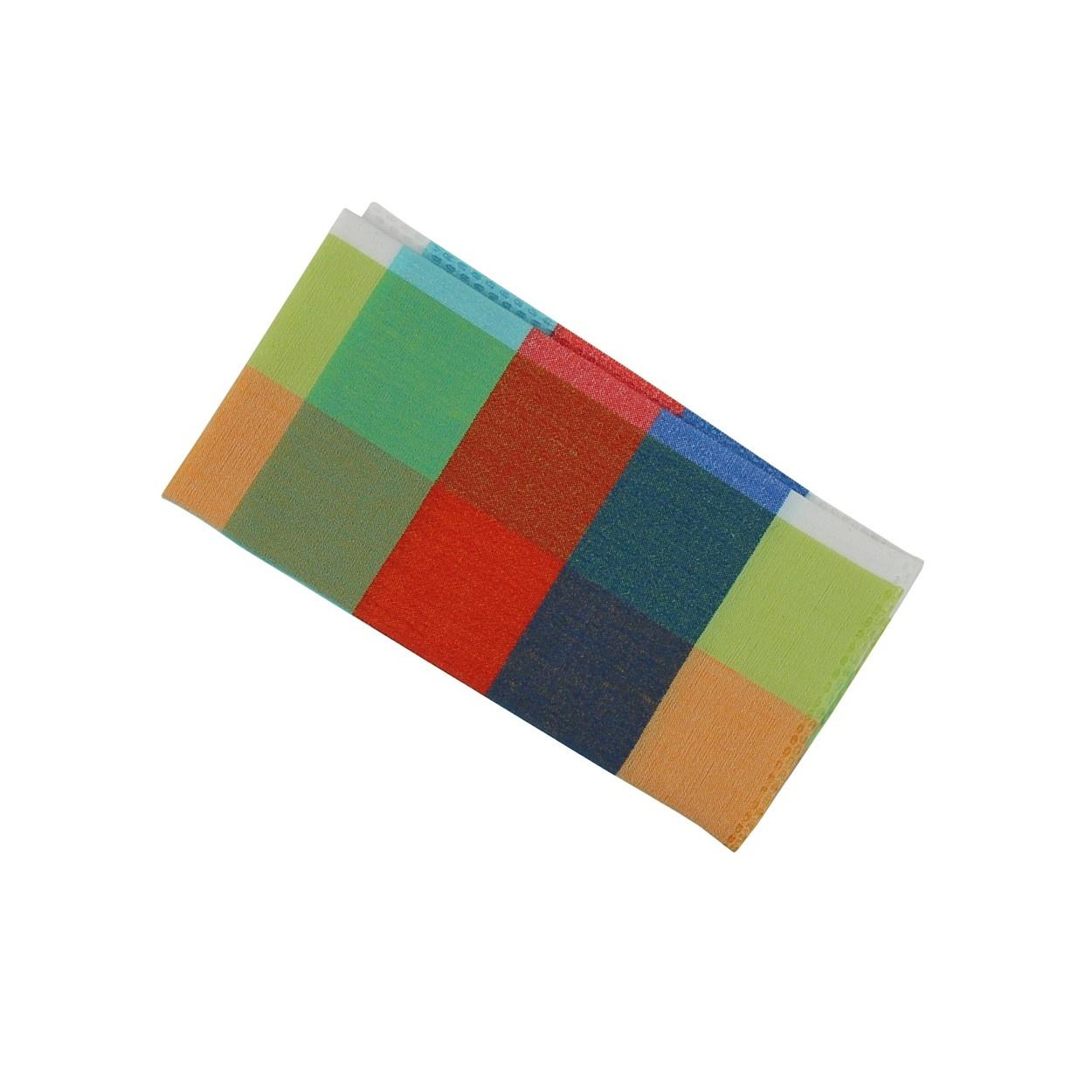 Barevný pánský kapesníček do saka s kostkovaným vzorem