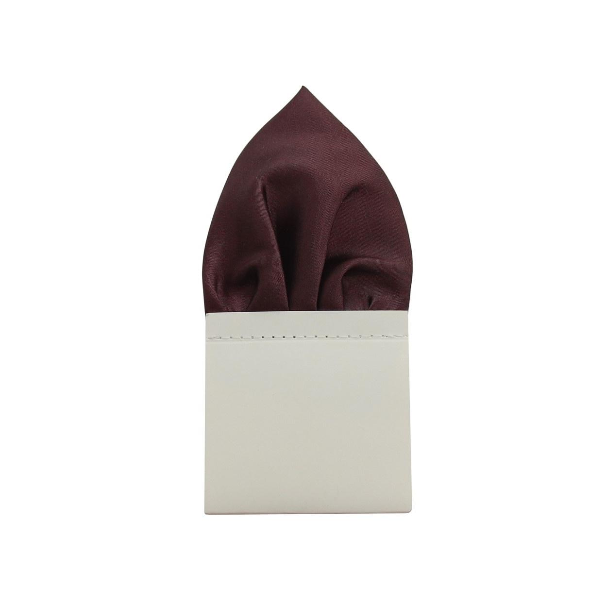 Tmavě fialový pánský kapesníček do saka lesklý
