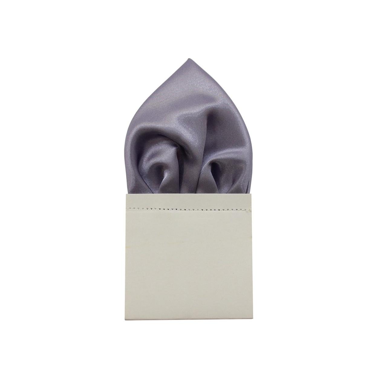 Světle fialový pánský kapesníček do saka lesklý