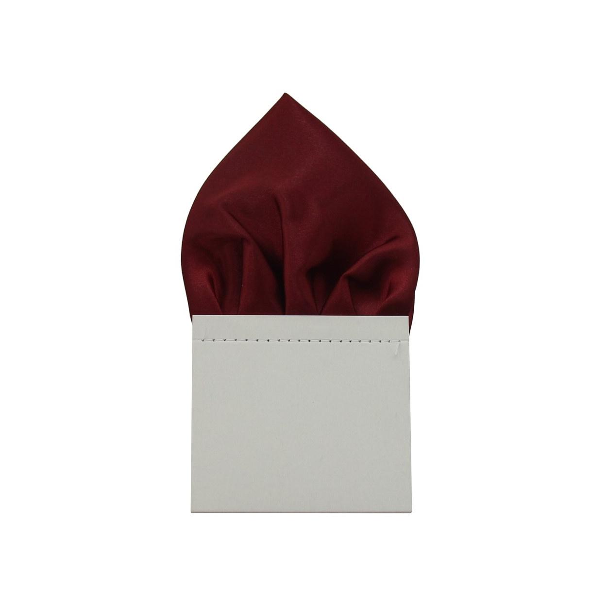 Vínově červený pánský kapesníček do saka lesklý