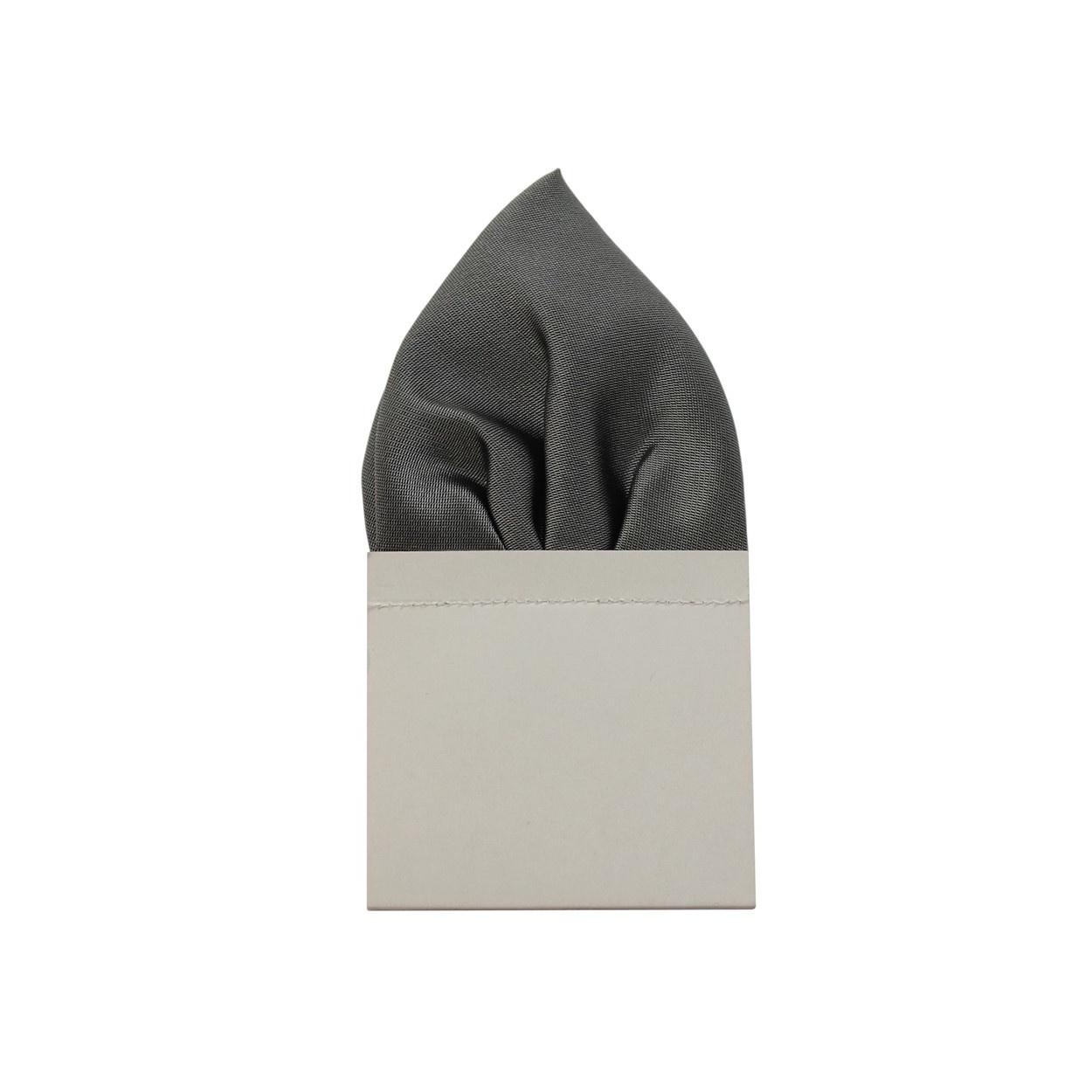 Světle šedý pánský kapesníček do saka lesklý