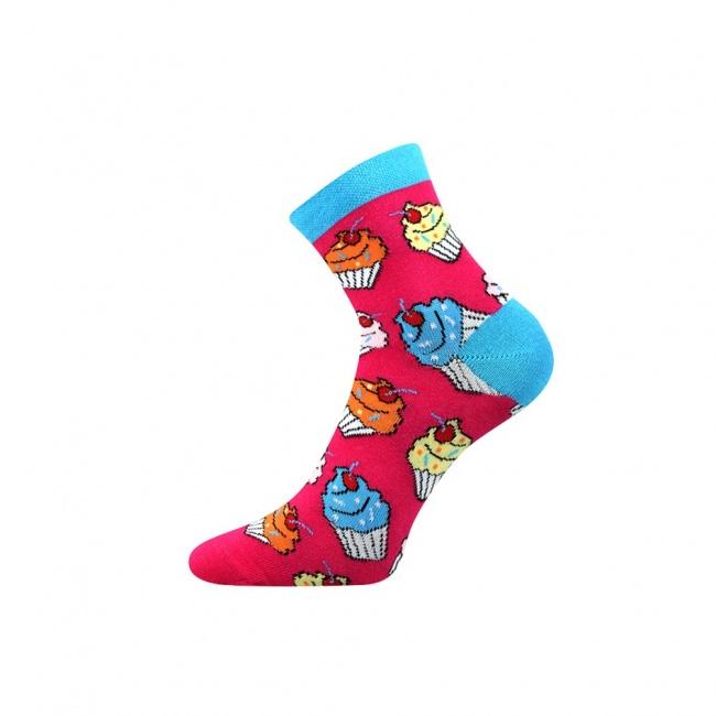 Tmavě růžové pánské ponožky CUPCAKE