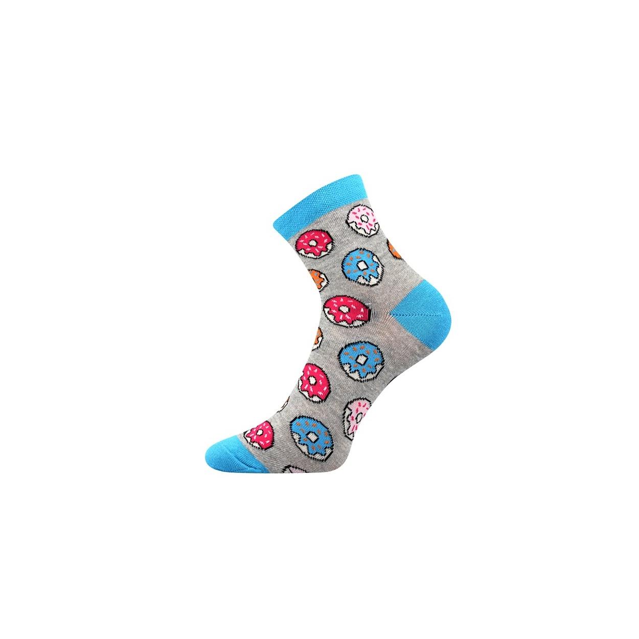 Šedé pánské ponožky DONUT