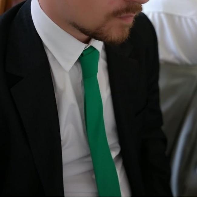 Zelená pánská kravata