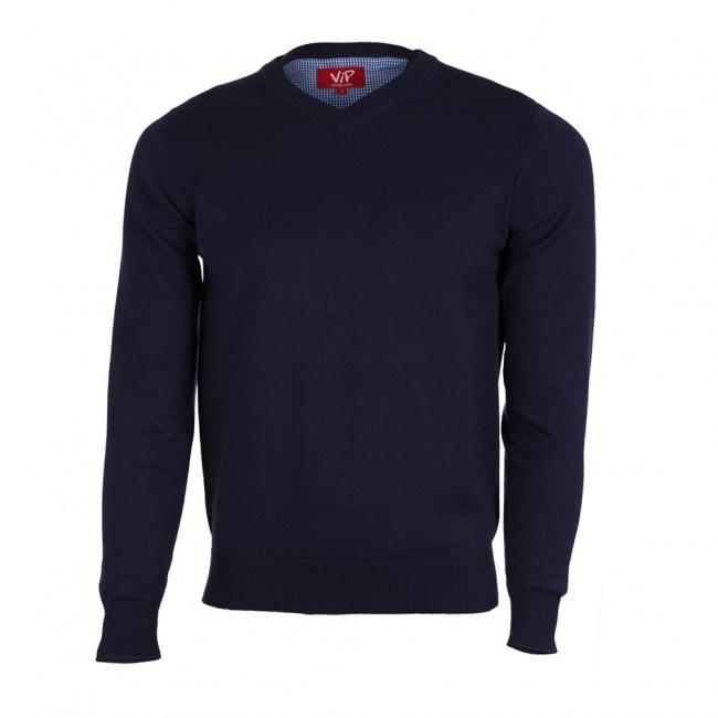 Tmavě modrý pánksý svetr