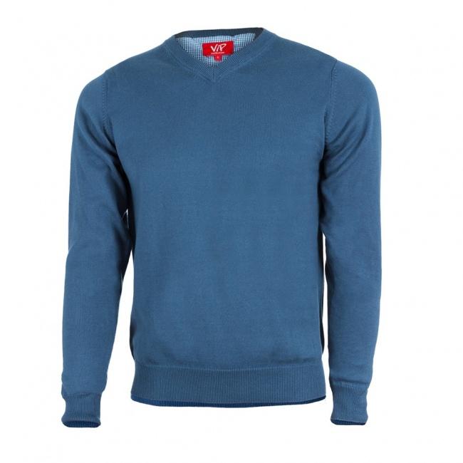 Světle modrý pánksý svetr