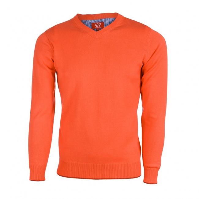 Oranžový pánksý svetr
