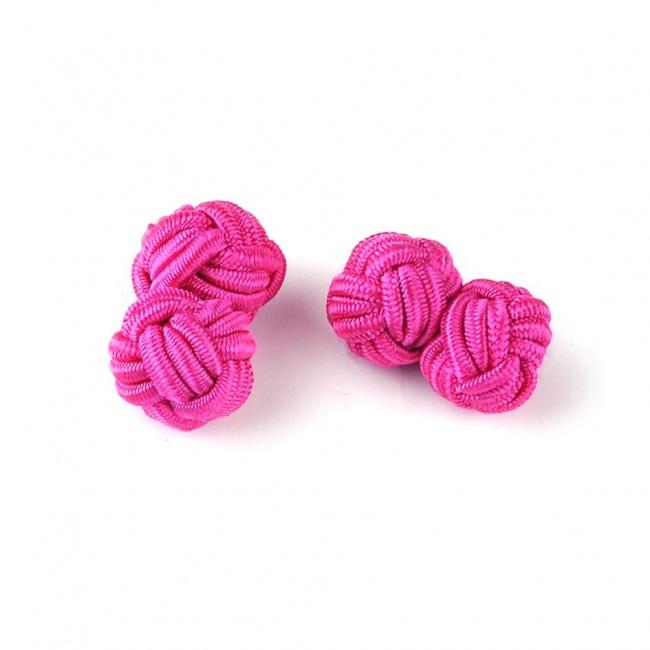 Tmavě růžové manžetové knoflíčky UZLÍKY