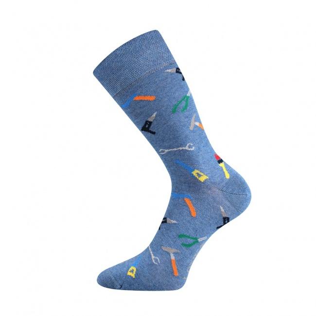 Světle modré pánské ponožky barevné NÁŘÁDÍ