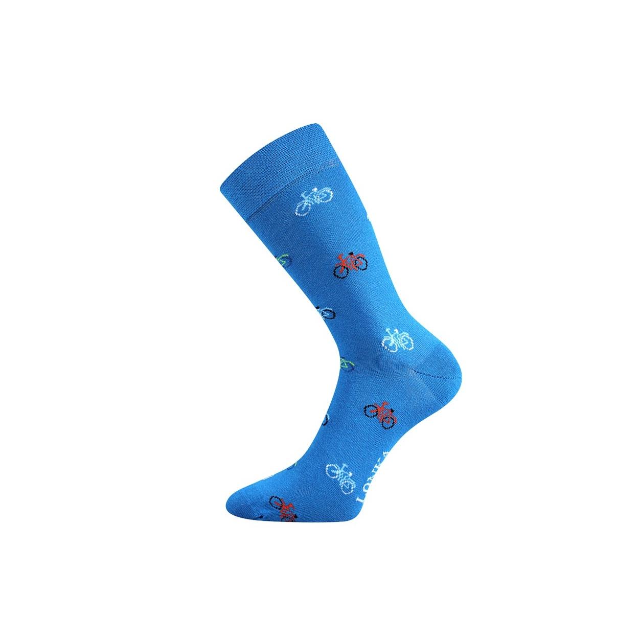 Modré pánské ponožky JÍZDNÍ KOLA