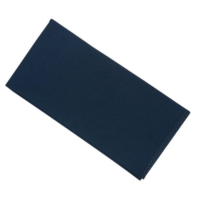 Tmavě modrý pánský kapesníček do saka matný