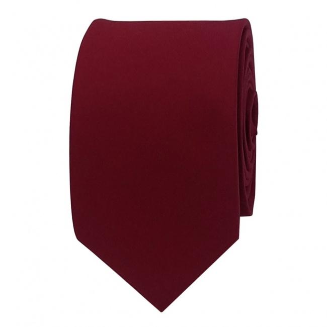 Vínově červená pánská kravata