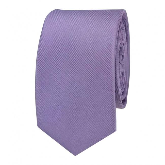 Světle fialová pánská kravata