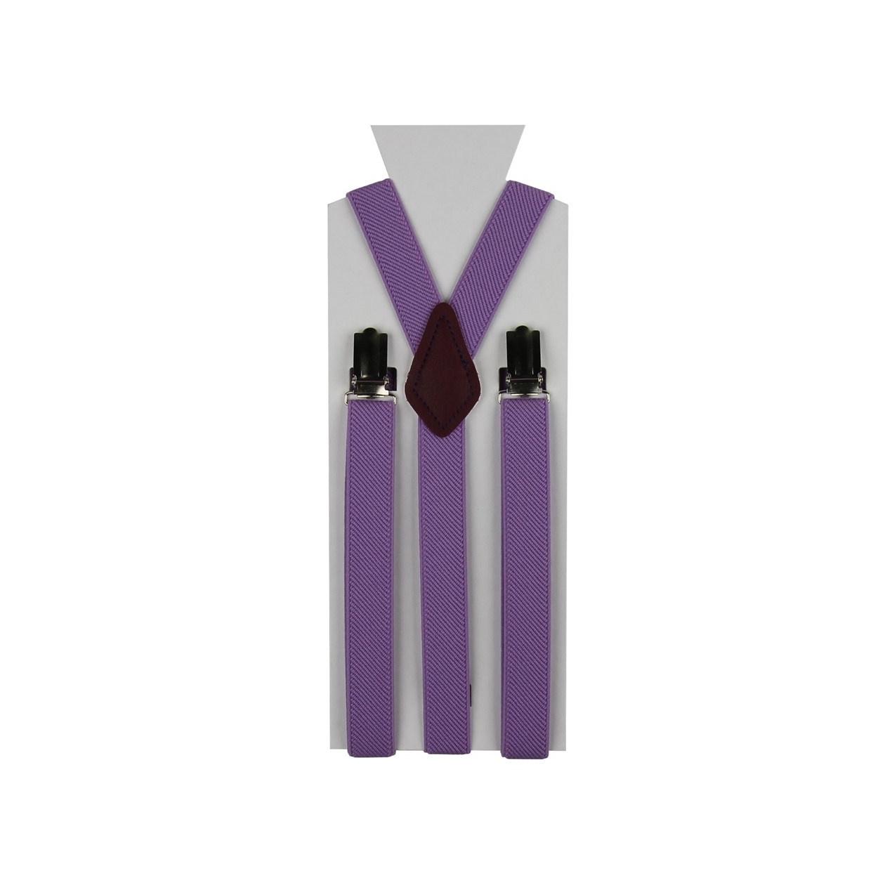 Moderní fialové pánské šle ve tvaru Y o délce 110 cm.