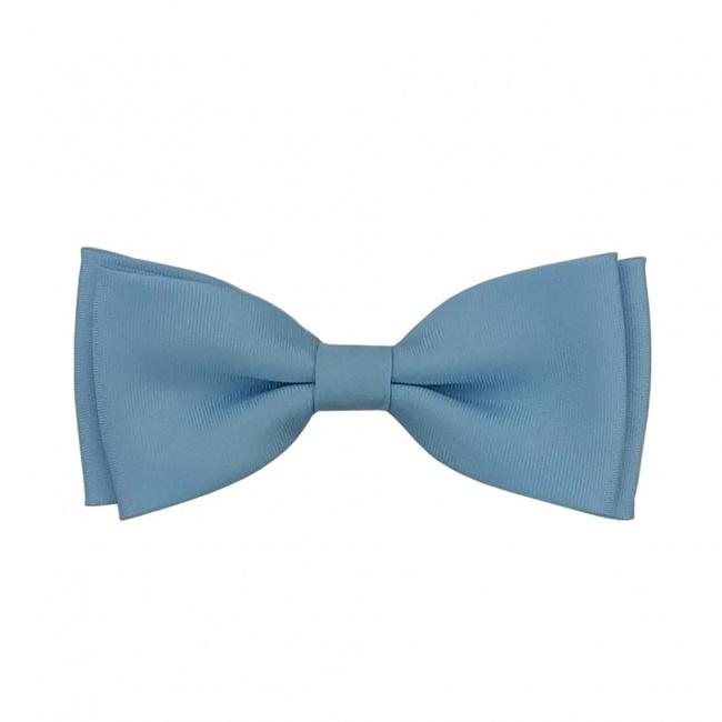 Světle modrý dětský motýlek matný
