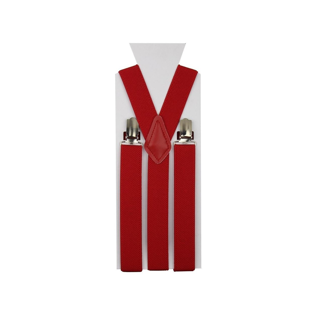 Červené pánské šle - kšandy 110cm