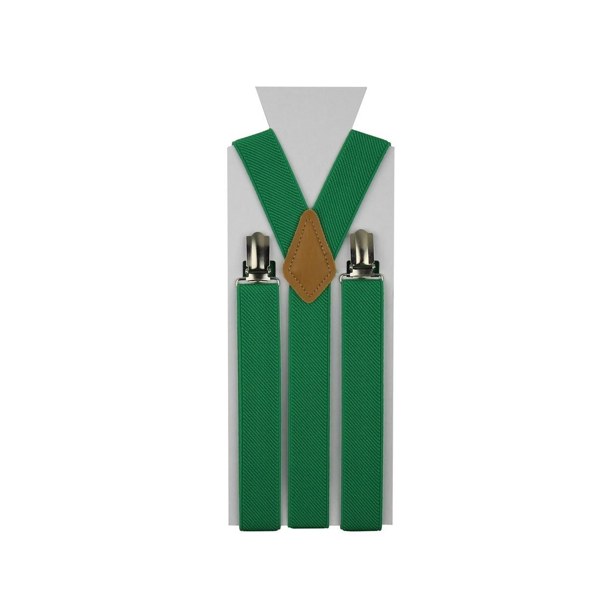 Zelené pánské šle - kšandy 110cm