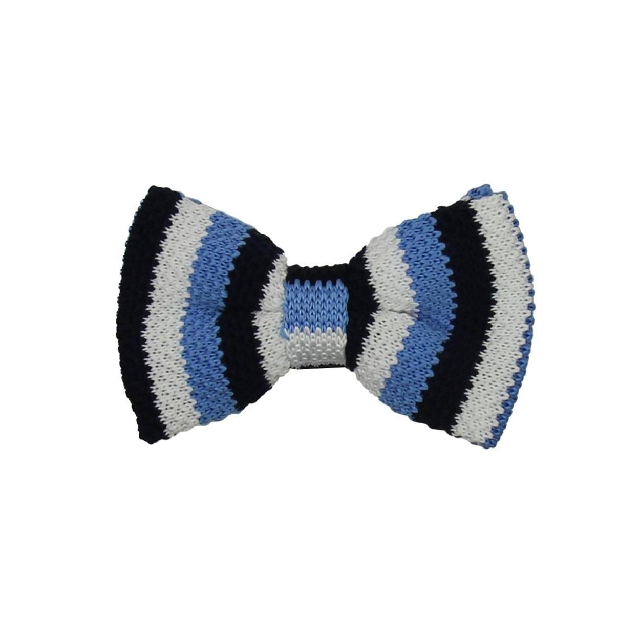 Modrý pletený motýlek