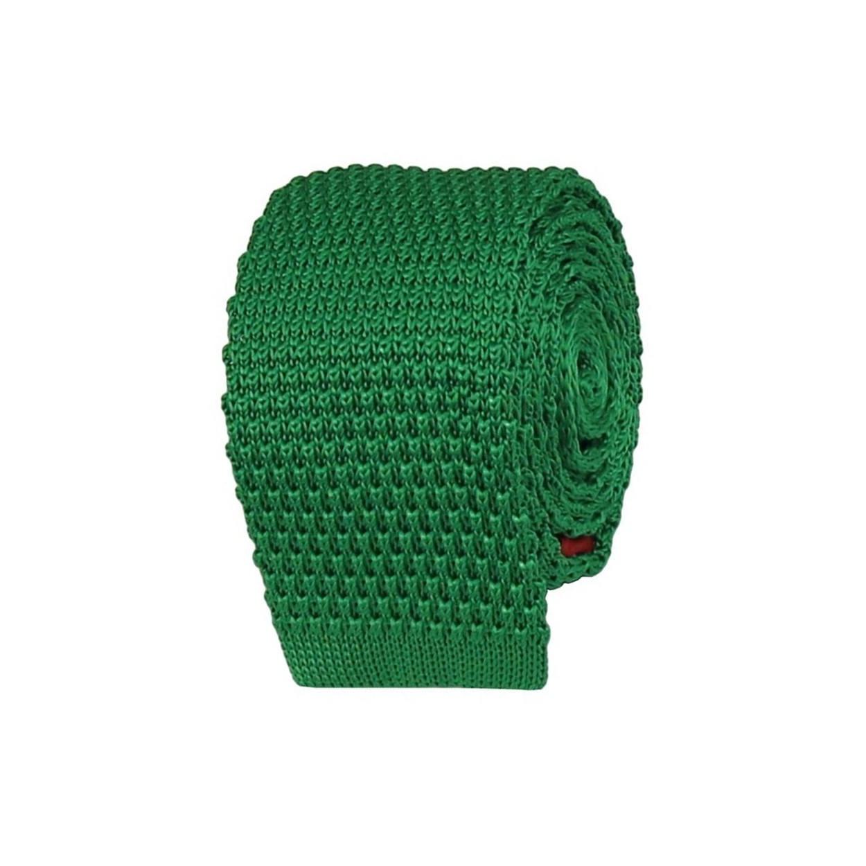 Zelená pletená kravata