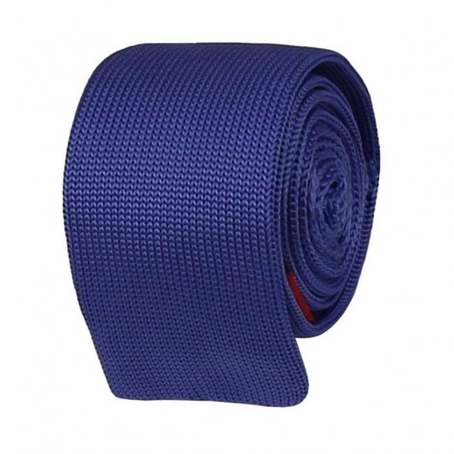 Světle modrá pletená kravata