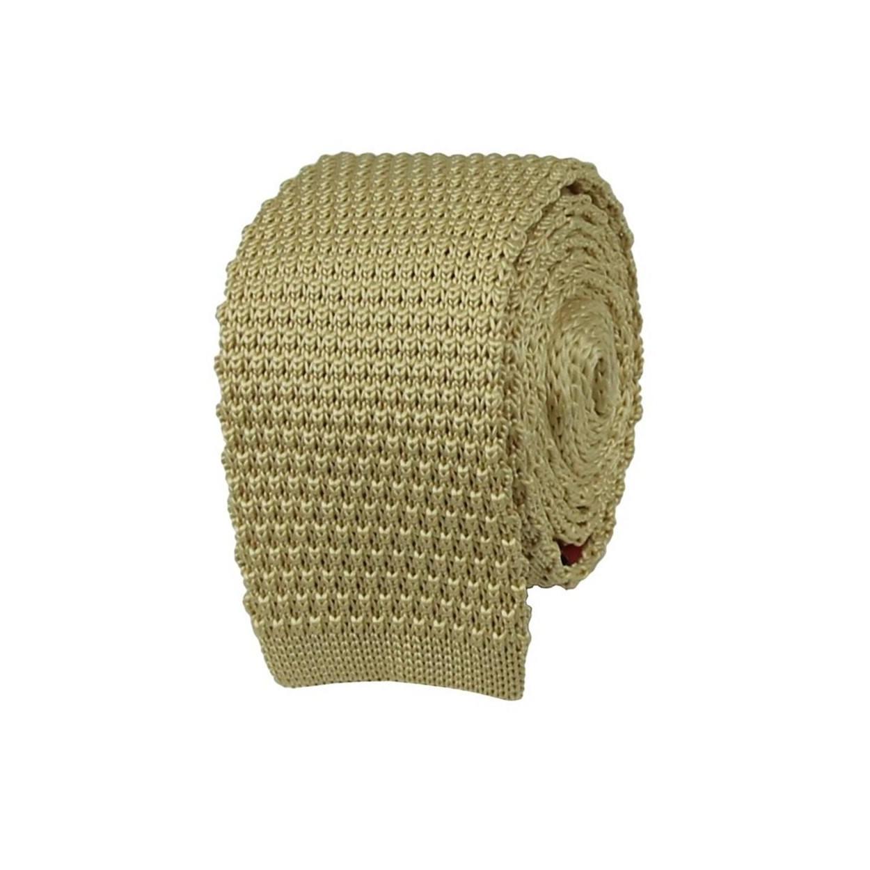 Béžová pletená kravata