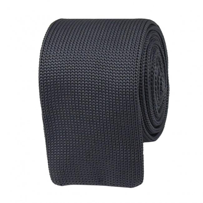 Šedá pletená kravata